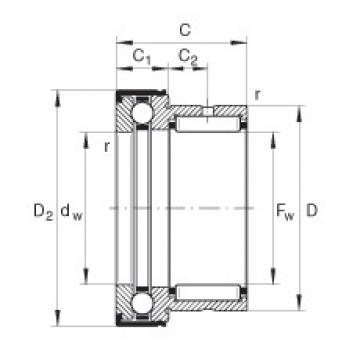 FAG إبرة بكرة / محوري الكرات - NKX25-Z-XL