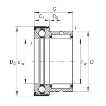 FAG إبرة بكرة / محوري الكرات - NKX35-Z-XL
