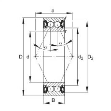 FAG الزاوي الاتصال الكرات - 3804-B-2RZ-TVH