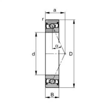 FAG محامل المغزل - HCS71911-E-T-P4S