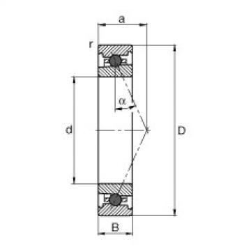 FAG محامل المغزل - HC71904-E-T-P4S