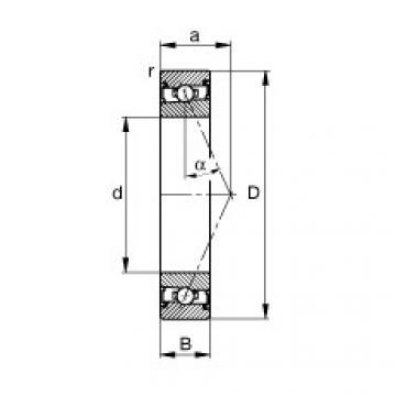 FAG محامل المغزل - HSS7004-E-T-P4S