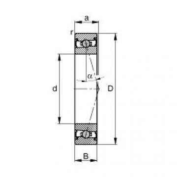FAG محامل المغزل - HCS71902-C-T-P4S