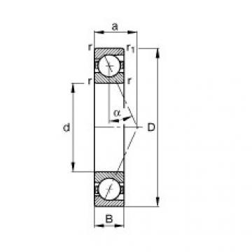 FAG محامل المغزل - B7006-E-T-P4S
