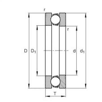 FAG محوري الأخدود العميق الكرات - 51205
