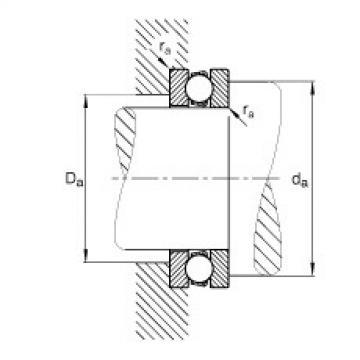 FAG محوري الأخدود العميق الكرات - 51204