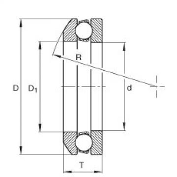 FAG محوري الأخدود العميق الكرات - 4107