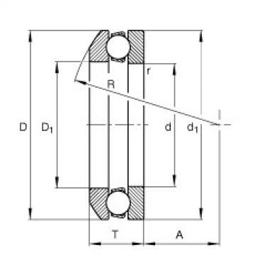FAG محوري الأخدود العميق الكرات - 53305 + U305