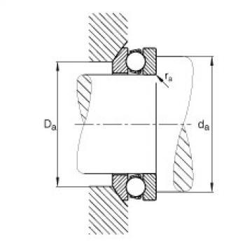 FAG محوري الأخدود العميق الكرات - 53205