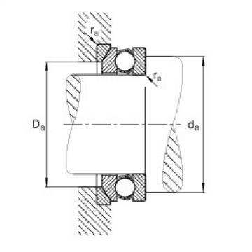 FAG محوري الأخدود العميق الكرات - 53204 + U204