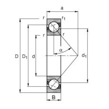 FAG الزاوي الاتصال الكرات - 7208-B-XL-MP