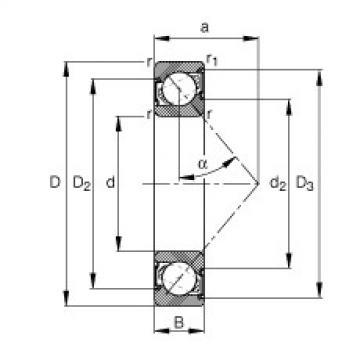 FAG الزاوي الاتصال الكرات - 7214-B-XL-2RS-TVP