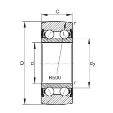 FAG بكرات الجنزير - LR5206-2HRS-TVH-XL