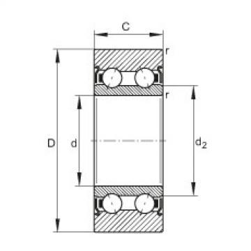 FAG بكرات الجنزير - LR5205-X-2Z-TVH-XL