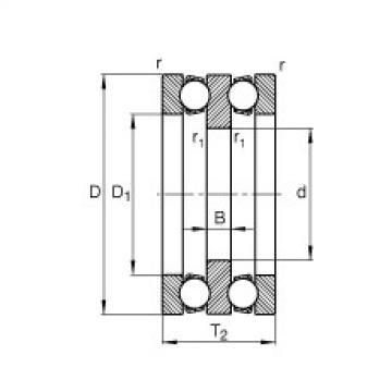 FAG محوري الأخدود العميق الكرات - 52308