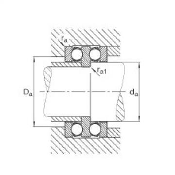 FAG محوري الأخدود العميق الكرات - 52207