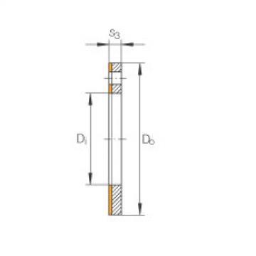FAG Thrust washers - EGW16-E40