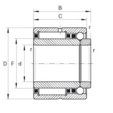 FAG إبرة الأسطوانة / الزاوي الاتصال الكرات - NKIB5904-XL