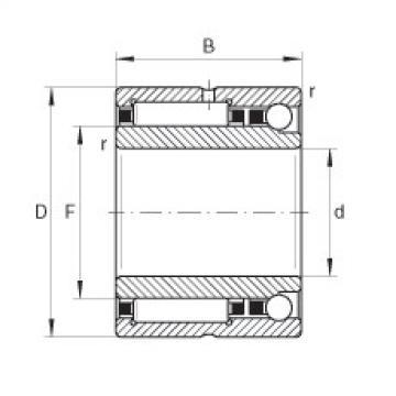 FAG إبرة الأسطوانة / الزاوي الاتصال الكرات - NKIA5906-XL