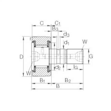 FAG مسمار نوع بكرات المسار - KR72-PP