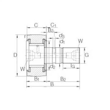 FAG مسمار نوع بكرات المسار - KRV40-PP