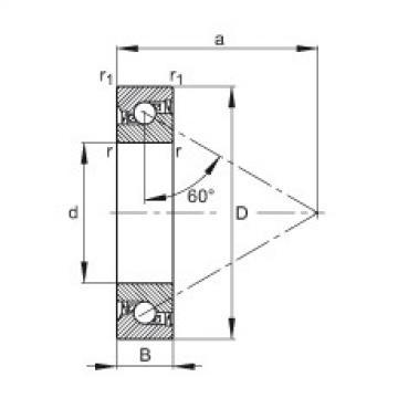 FAG محوري الزاوي الاتصال الكرات - 7603020-2RS-TVP