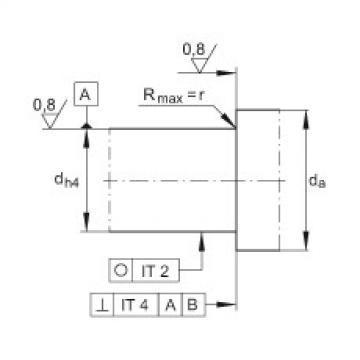 FAG محوري الزاوي الاتصال الكرات - 7603025-2RS-TVP