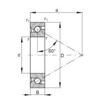 FAG محوري الزاوي الاتصال الكرات - 7603035-TVP