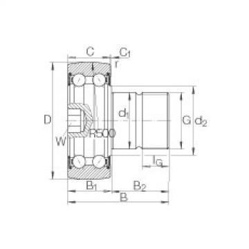 FAG مسمار نوع بكرات المسار - KR5206-2RS