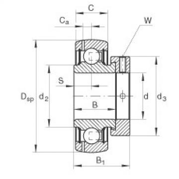 FAG شعاعي إدراج الكرات - GRAE17-XL-NPP-B