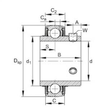 FAG شعاعي إدراج الكرات - UC214-44