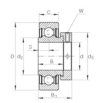 FAG شعاعي إدراج الكرات - RA102-NPP