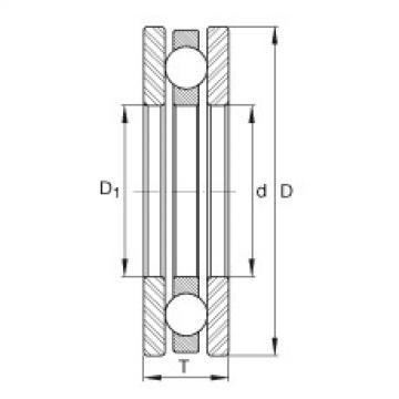 FAG محوري الأخدود العميق الكرات - 4411