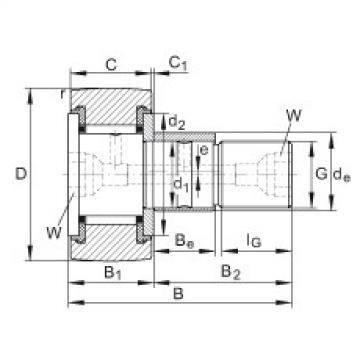 FAG مسمار نوع بكرات المسار - KRE22-PP