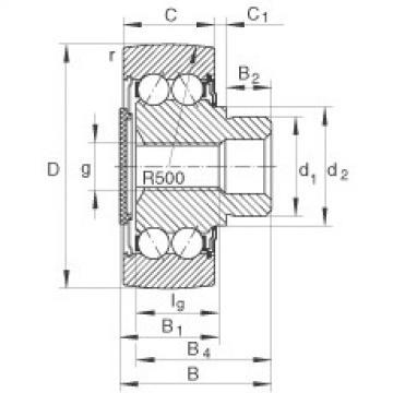 FAG مسمار نوع بكرات المسار - ZL5202-DRS
