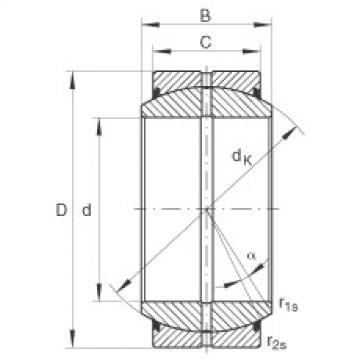 FAG Radial spherical plain bearings - GE70-DO-2RS
