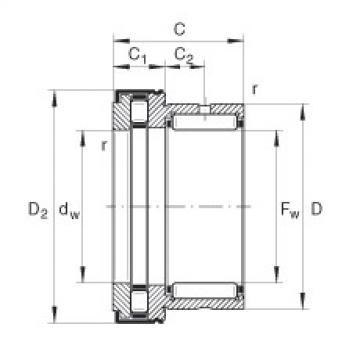 FAG إبرة بكرة / محوري أسطواني محامل - NKXR20-Z-XL