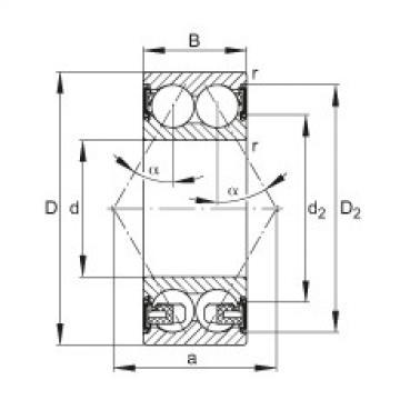 FAG الزاوي الاتصال الكرات - 3208-BD-XL-2HRS-TVH
