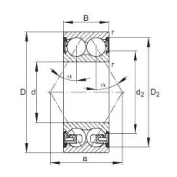 FAG الزاوي الاتصال الكرات - 3305-BD-XL-2Z-TVH