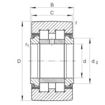 FAG نير نوع بكرات المسار - PWTR25-2RS-XL