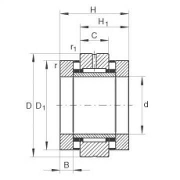 FAG إبرة بكرة / محوري أسطواني محامل - ZARN65125-TV