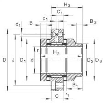 FAG إبرة بكرة / محوري أسطواني محامل - ZARF60150-L-TV