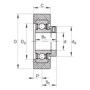 FAG شعاعي إدراج الكرات - RCSMB17/65-XL-FA106