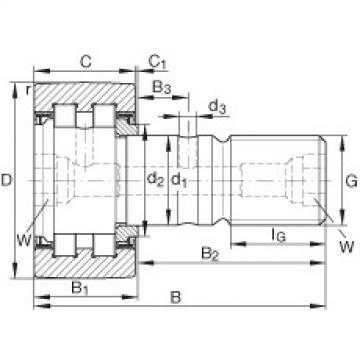 FAG مسمار نوع بكرات المسار - PWKR62-2RS-RR-XL