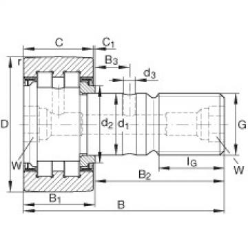 FAG مسمار نوع بكرات المسار - PWKR80-2RS-XL