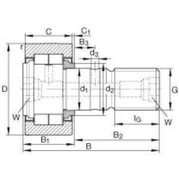 FAG مسمار نوع بكرات المسار - NUKR52