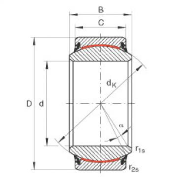 FAG Radial spherical plain bearings - GE17-UK-2RS