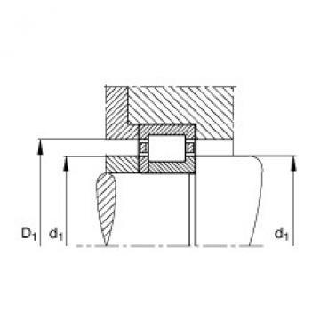 FAG محامل أسطوانية - NUP214-E-XL-TVP2