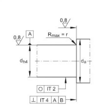 FAG محوري الزاوي الاتصال الكرات - ZKLF1762-2RS-2AP-XL