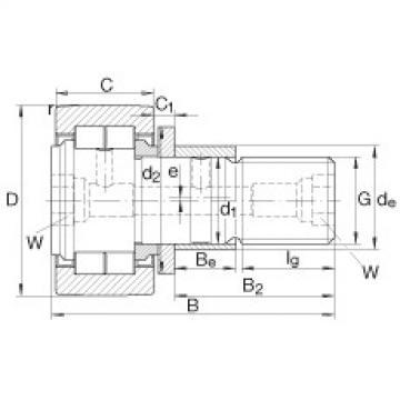 FAG مسمار نوع بكرات المسار - NUKRE35